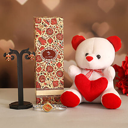 Teddy Love Valentine Gift Set:Ilina Gift Sets