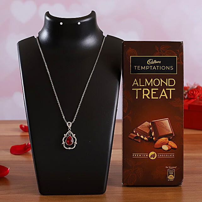 Temptations Almond Chocolate & Elegant Red Pendant Online