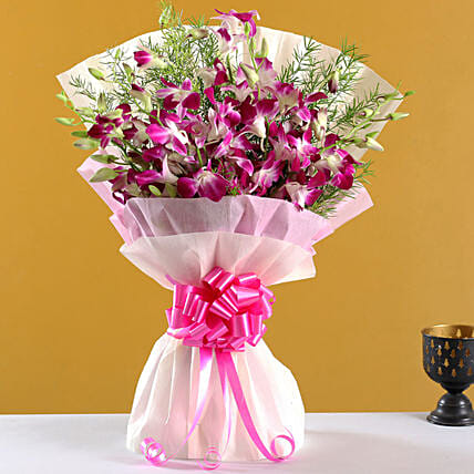 Orchid Flower Bouquet Online:Send Flower Bouquets