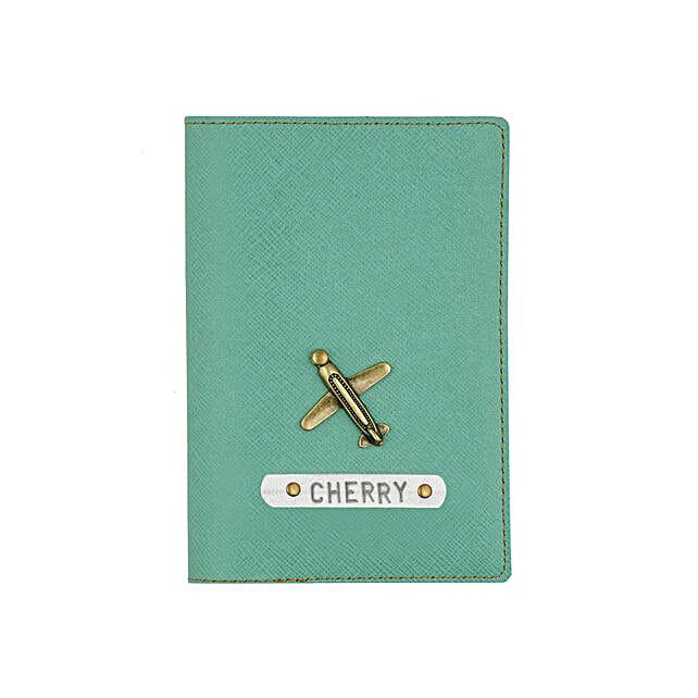 Stylish green passport cover