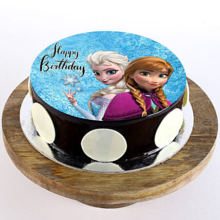 frozen cartoon photo cake for kid:Send Cartoon Cakes