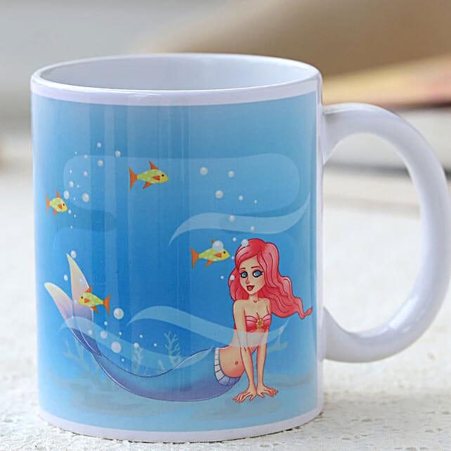 little mermaid printed mug