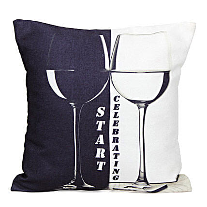 The Start Celebrating-12X12 inches cushion:Anniversary Cushions