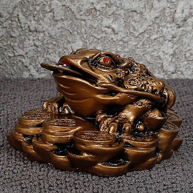 statue of feng shui frog