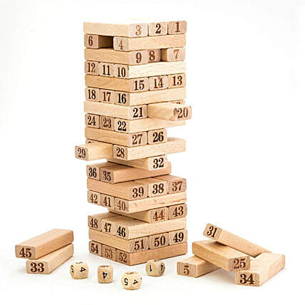 Online Wooden Jenga Tower Game:Baby Toys