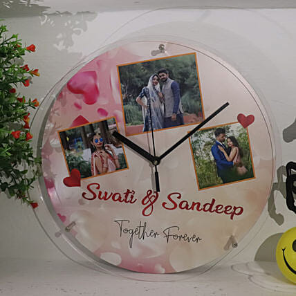 Together Forever Personalised Wall Clock