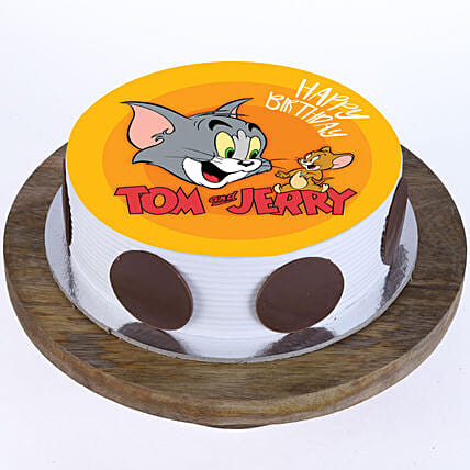 Online Tom n Jerry Photo Cake For Kids:Cartoon Cakes