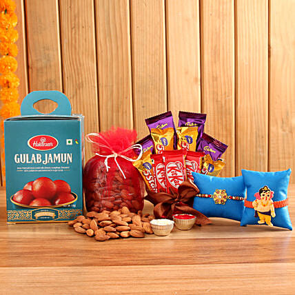 Traditional And Sweet Rakhi Hamper