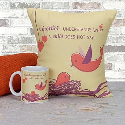 Mothers Day combo of cushion and mug