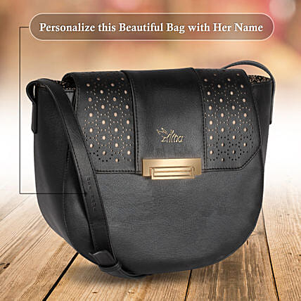 Black Small Sling Bag for Women:Personalised Handbags and Wallets