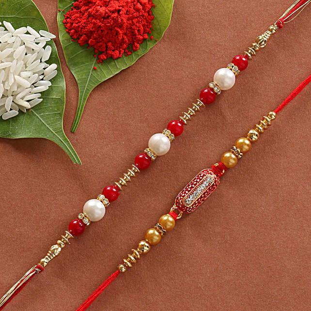 online set of designer rakhi:Rakhi Gifts to Thane