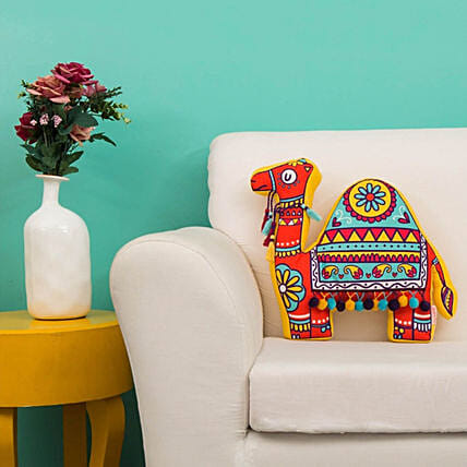 Tribal Camel Shape Cushion