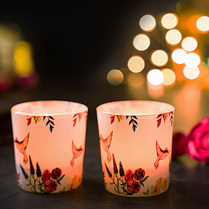 Online Tropical Humming Bird Candle Votives