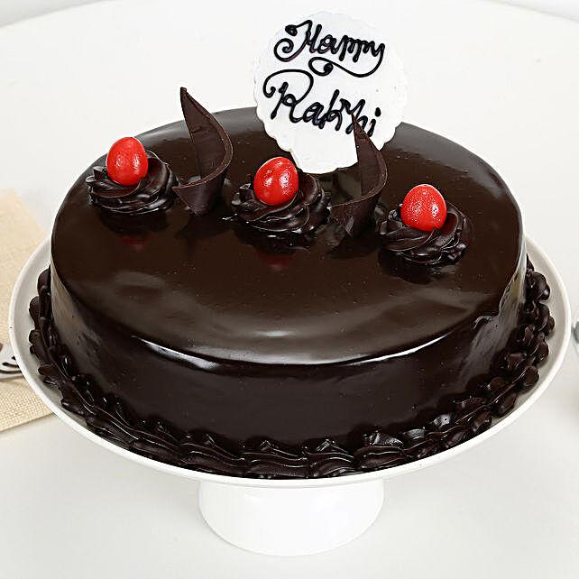 Truffle Cake Rakhi Delight:Gifts Delivery In Ramamurthy Nagar