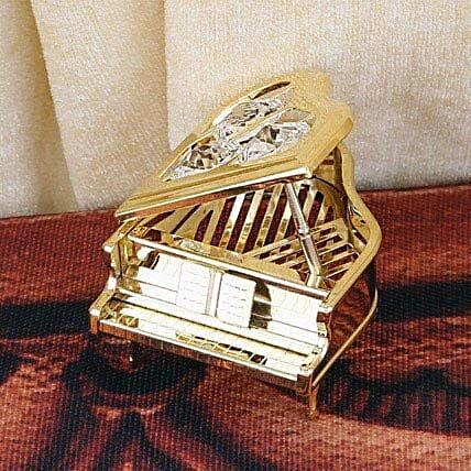 Swarovski golden piano:Gold Plated Gifts