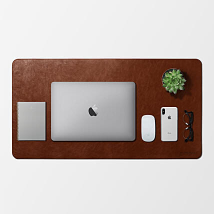 Turf Vegan Leather Desk Mat Tan