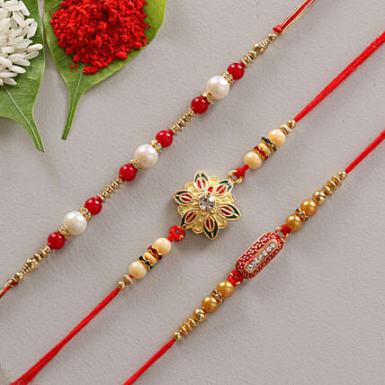 Creative 3 set of rakhi online
