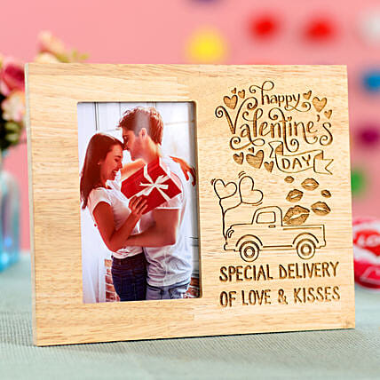 wooden photo frame with engrave messages for him