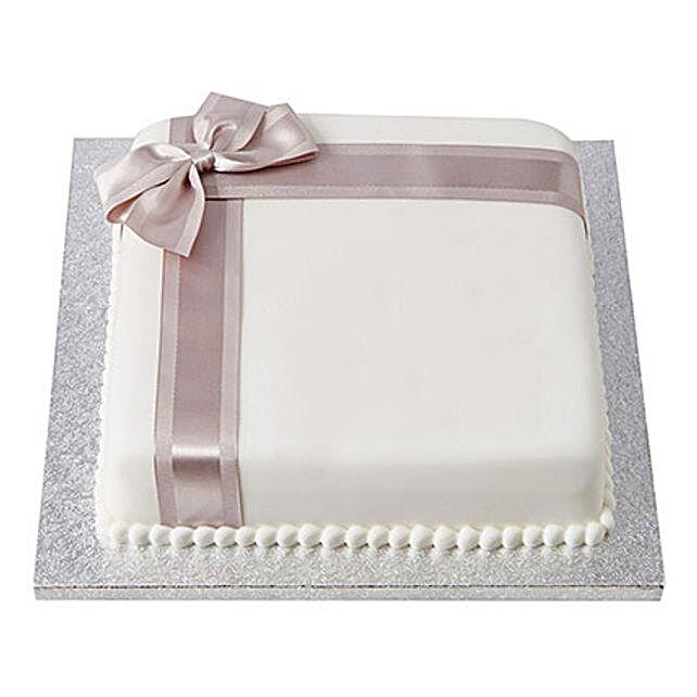 25th Year Fondant Cake Butterscotch 2kg Eggless