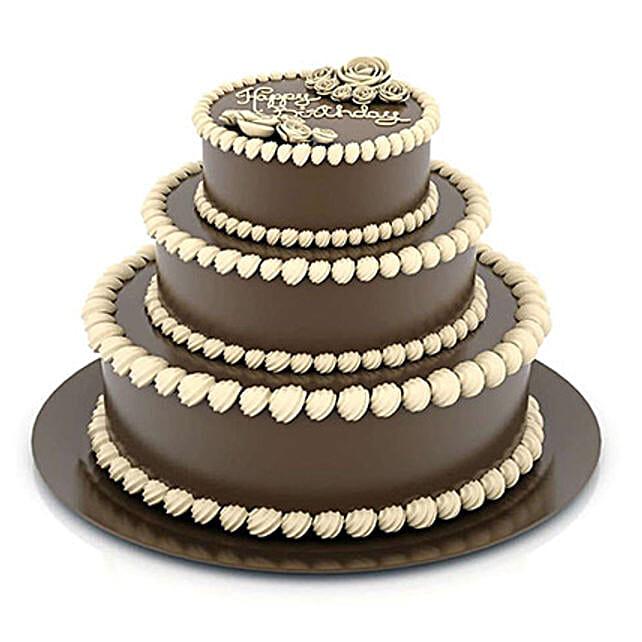 3 Tier Cream Truffle Cake 5kg