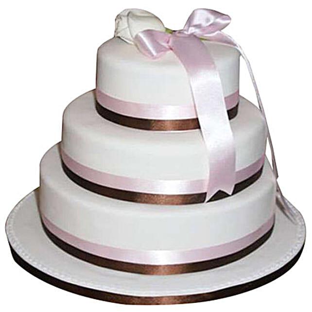 3 tier fondant cream cake 5kg