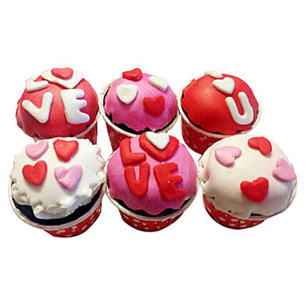 6 Valentine Special Cupcakes by FNP