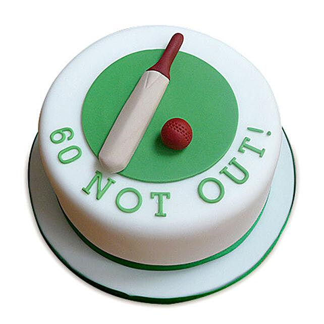 60 Not Out Designer Cake 3kg Eggless Black Forest