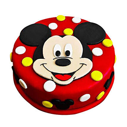 Adorable Mickey Mouse Cake 1kg Vanilla Eggless