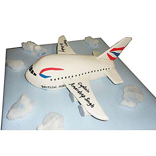 Airplane Cake 3kg Eggless Black Forest