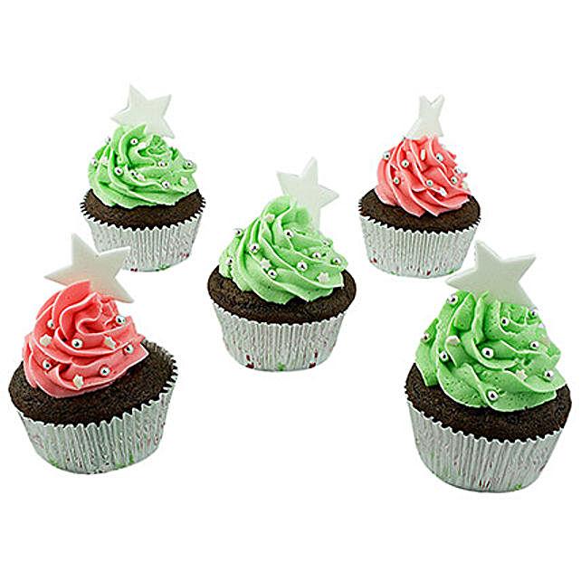 Assortment Of Choco Cream Cupcakes 6 Eggless