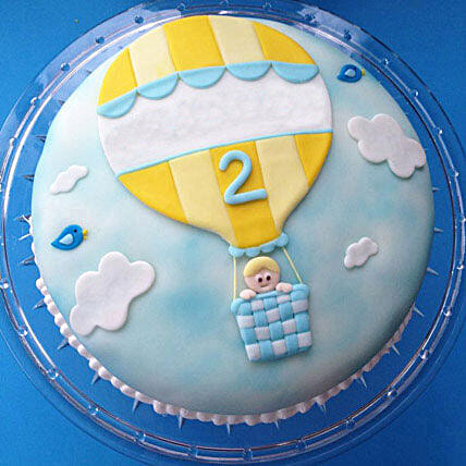 Baby in Balloon Cake 3kg Black Forest
