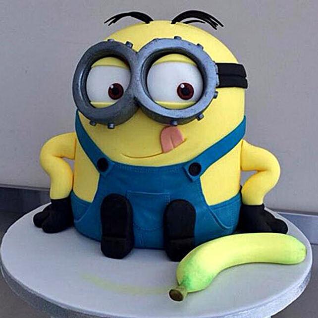 Banana N Bob Minion Cake 3kg Chocolate Eggless