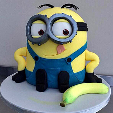 Banana N Bob Minion Cake 4kg Butterscotch Eggless