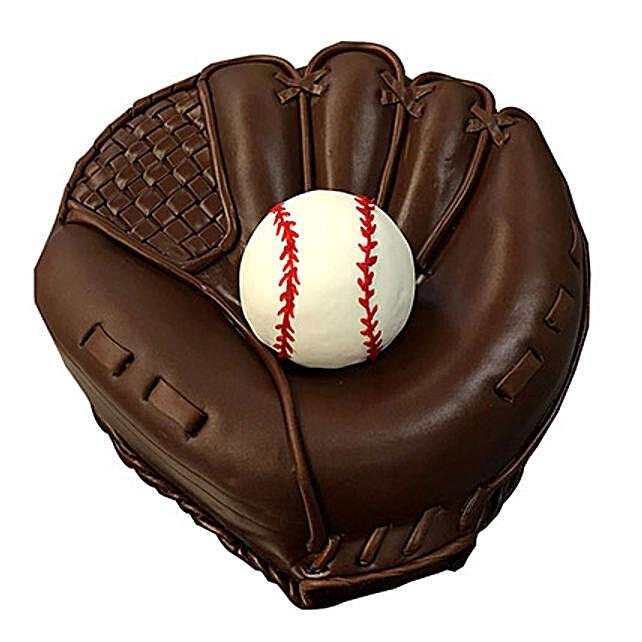 Baseball Special Fondant Cake Vanilla 4kg Eggless