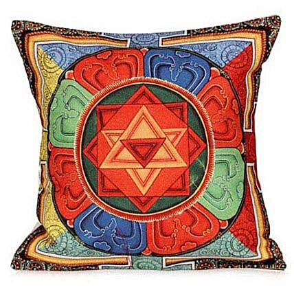 Beautiful Thangka Print Cushion By FNP