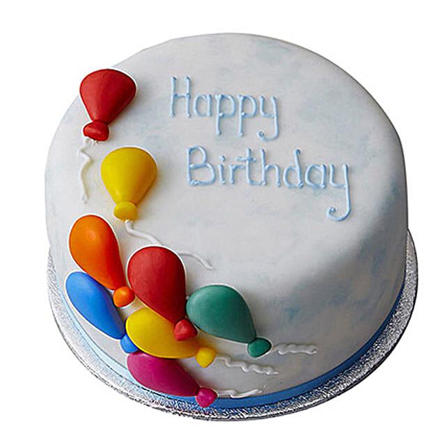 Birthday Balloon Fondant Cake Butterscotch 2kg
