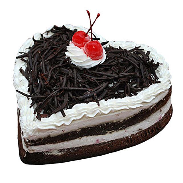 Black Forest Heart Cake Half Kg