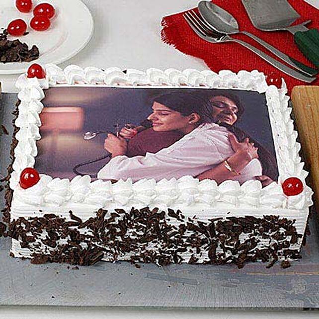 Black Forest Photo Cake for Mom 1kg eggless