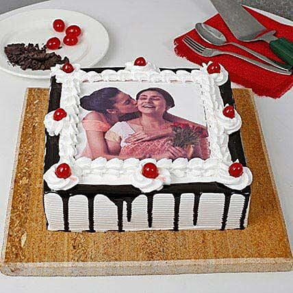 Black forest Cake with Picture On It