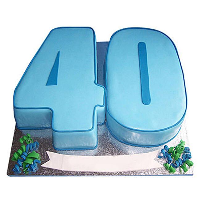 Blue Fondant Cake 4kg Eggless Chocolate
