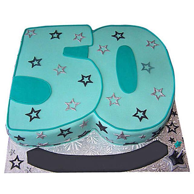Blue Star Cake 4kg Eggless Truffle