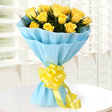 Bright 20 Yellow Roses Bouquet