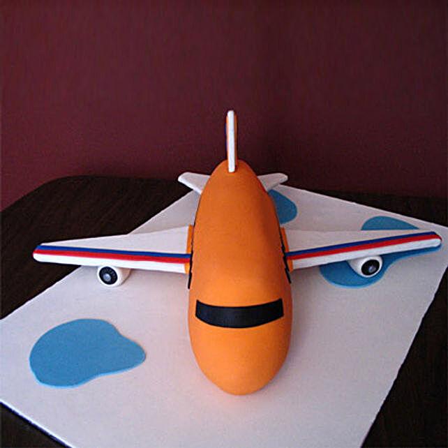 Bright Airplane Cake 2kg Eggless Chocolate