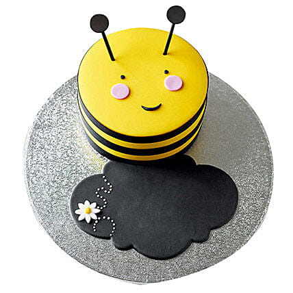 Bumble Bee Fondant Cake Chocolate 1kg Eggless