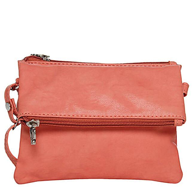 Butterflies Classy Dark Peach Sling Bag