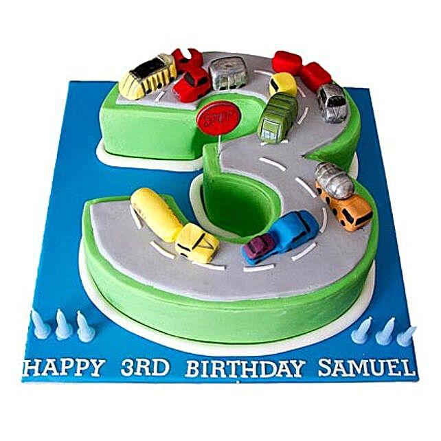 Cars Birthday Cake 3kg Eggless Butterscotch