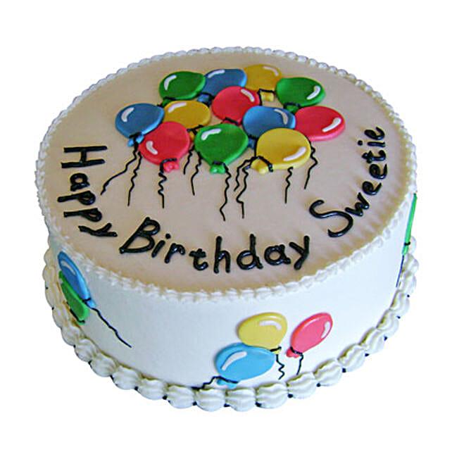 Balloon Birthday Cake for Kids 1 kg