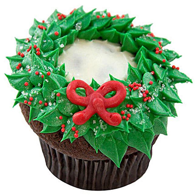 Choco Cream Christmas Cupcake 6