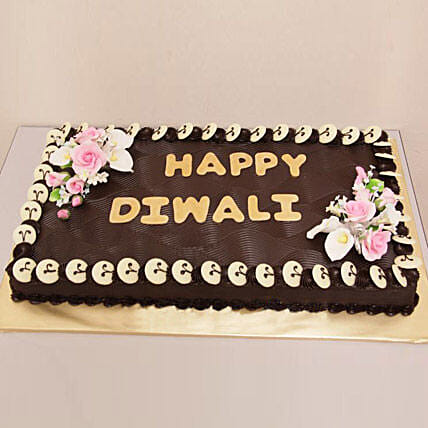 Chocolate Frenzy Diwali Cake 1kg Eggless