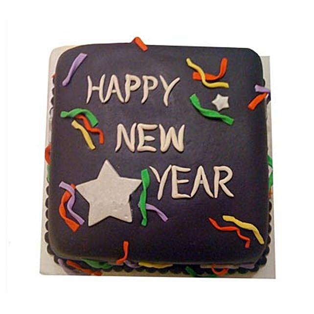 Chocolaty New Year Cake 1kg Eggless
